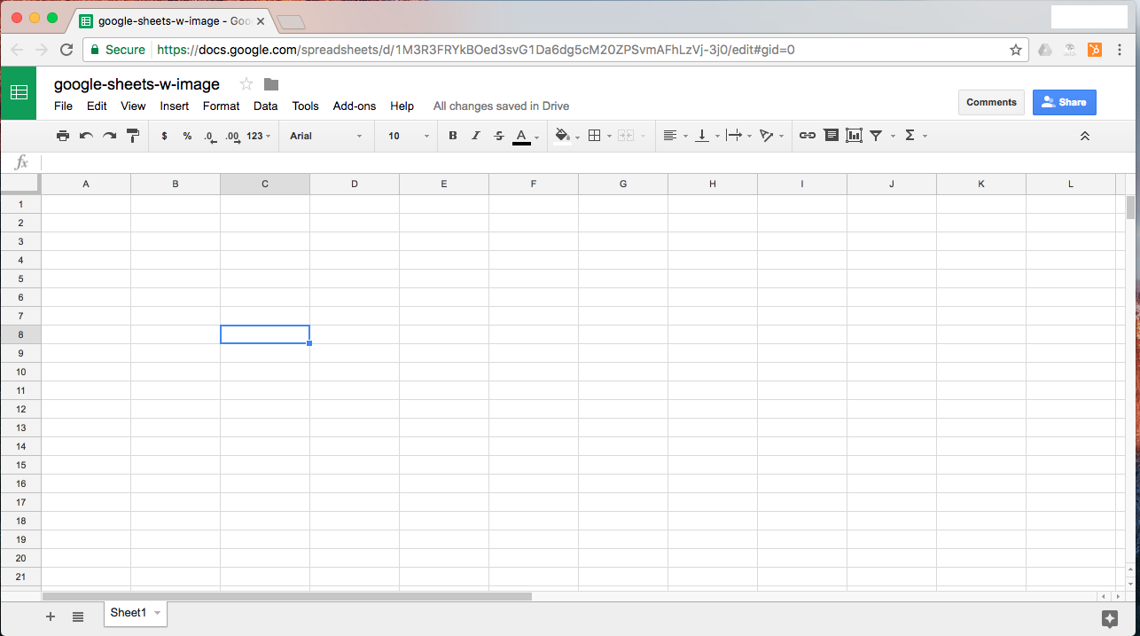 Open Google Sheets